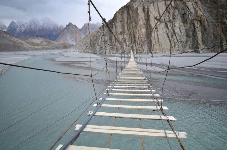8. Hussaini Hanging Bridge, Northern Pakistan | Most Dangerous Bridges in the World