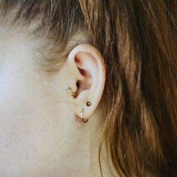 9. Anti-tragus piercing