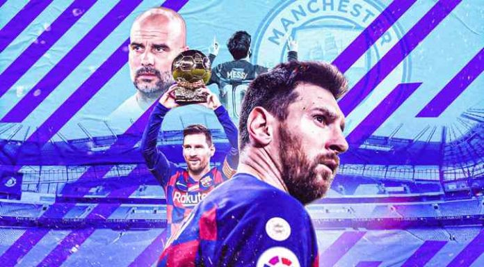 Manchester City agreed to pay 100 million euros to get Messi