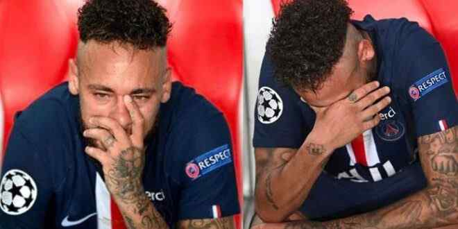 Neymar could not hide the pain of defeat