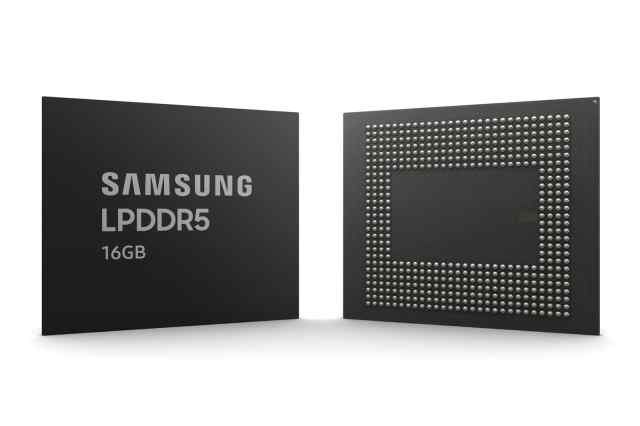Samsung announce the production of RAM LPDDR5 chips for Mobiles