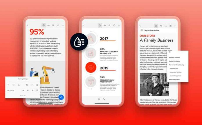 A New Liquid mode in Adobe Acrobat Reader for Android and iOS Users