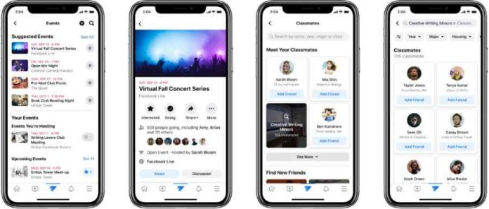 Facebook introduced a platform for students called Facebook Campus