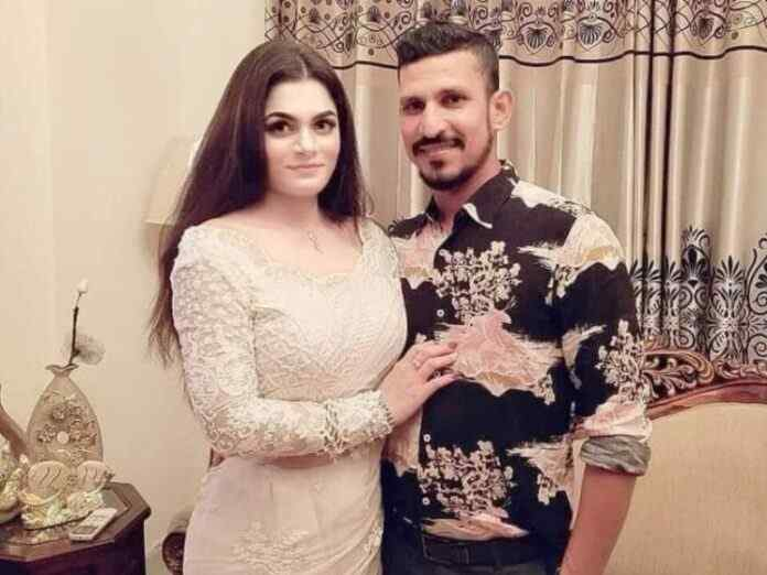 Nasir Hossain posted a picture with his future wife