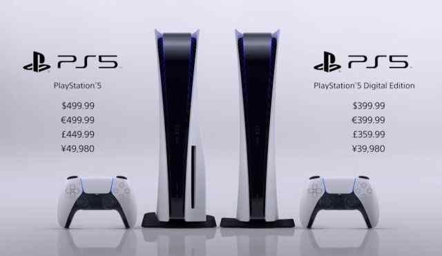 Sony PS5 Price and Release Date