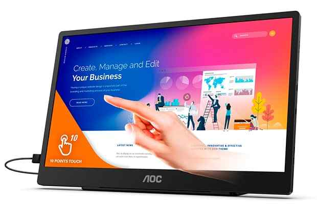 AOC Portable Touchscreen Monitor Price and Release Date
