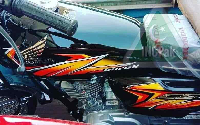 Honda 125 Black Sticker