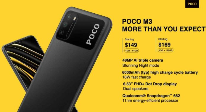 Xiaomi POCO M3 Price, Release Date, and Specifications