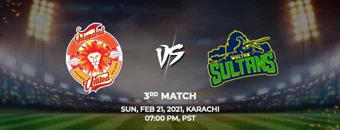 Islamabad United vs Multan Sultans PSL 2021 Match 3 Highlights