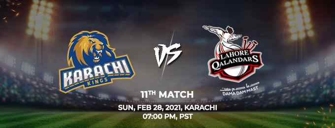 Lahore Qalandars vs Karachi Kings PSL 2021 Match 11 Highlights