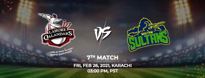Lahore Qalandars vs Multan Sultans PSL 2021 Match 7 Highlights