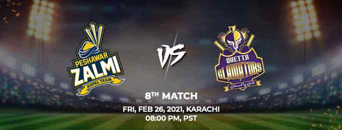 Peshawar Zalmi vs Quetta Gladiators PSL 2021 Match 8 Highlights
