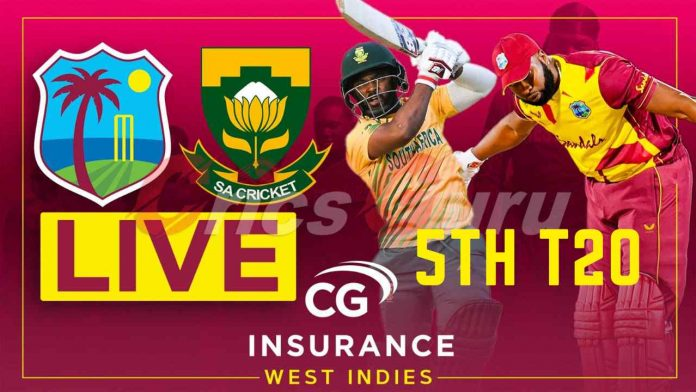 South Africa vs West Indies 5th T20 Live Streaming, SA vs WI 2021